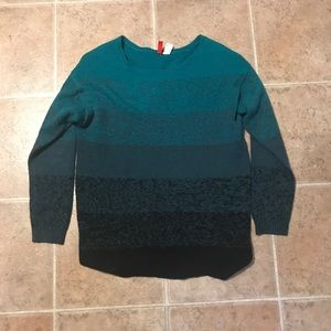Green to Black Gradient Sweater